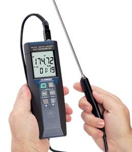 Termômetro Portátil Registrador de Dados Pt-100 de Precisão | HH376