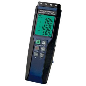 Termômetro com Registrador de Dados Portátil de Quatro CanaisCom Interface USB | HH378