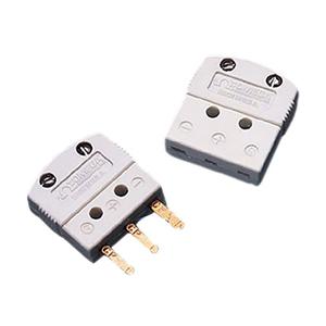 Mini Conector de 3 Pinos Chatos para Termopar, Pt-100 e Termistor de 3 Fios | Série MTP