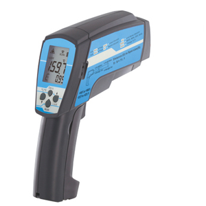 Dual laser infrared thermometer with Type K T/C Input option | Dual Non-Contact Laser High-Temperature Infrared Thermometer