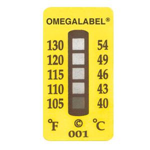Temperature Labels, 5 Temperature Ranges | TL-5