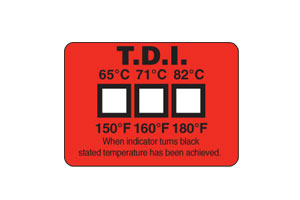 Dishwashers Temperature Labels | TL-TI Non-Reversible Temperature Labels